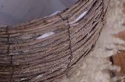Nido rústico marrón troncos 40 cm