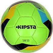 Ballon de football en cuir vert