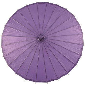 Chinese Paper and Bamboo Parasol - Purple