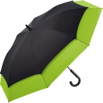 Windfighter 'Stretch' Vented Performance Golf Umbrella - Black & Lime Green
